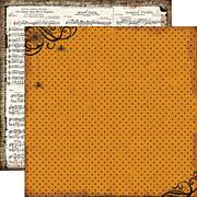 Chillingsworth Manor Spiderweb Polka Dot Scrapbook Paper