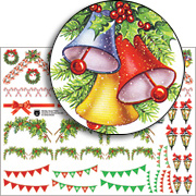 Christmas House Trims Collage Sheet