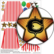 3D Circus Tent Collage Sheet
