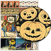 Crepe Paper Halloween Collage Sheet