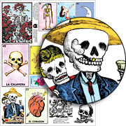 Dia de los Muertos (Day of the Dead) Collage Sheet