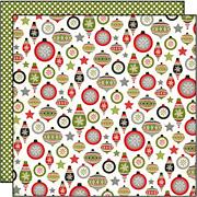 Tis the Season Ornaments Scrapbook Paper