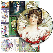 Fairy Labels and Ads Collage Sheet