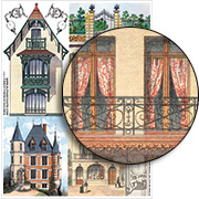 Fancy French Houses Collage Sheet