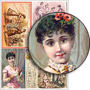 Fashionable Victorian Children Collage Sheet