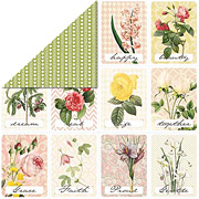 Modern Romance - Floral Cards Scrapbook Paper