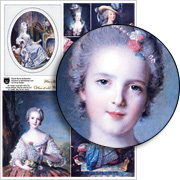 Floral Marie Antoinette Collage Sheet