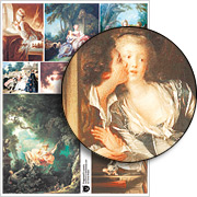 Fragonards Lovers Collage Sheet