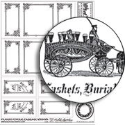 Filigree Funeral Carriage Windows Collage Sheet
