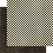 Mother Goose Checkers Scrapbook Paper