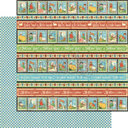 Mother Goose Playful Postage Scrapbook Paper
