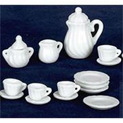 White Tea Set - 17 pieces