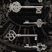 Ornate Metal Keys - Shabby Chic