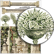 Garden Urns Collage Sheet