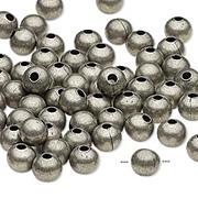 6mm Round Gunmetal Beads