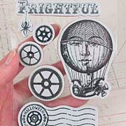 Steampunk Spells Cling Stamp Set - Hot Air Balloon
