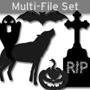 Halloween Silhouettes Set Download