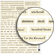 Halloween Words Collage Sheet