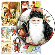 Here Comes Santa Claus Collage Sheet