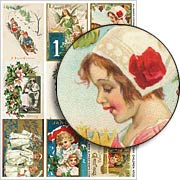 Holiday Children ATCs Collage Sheet