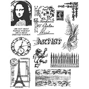 Mini Classics Cling-Mounted Stamp Set