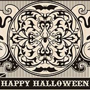 Halloween Playing Card Rubber Stamp