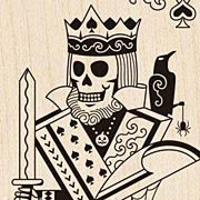 Skeleton King Rubber Stamp