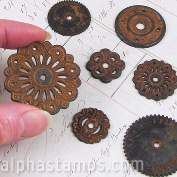 Finnabair Mechanicals Metals - Rustic Washers