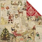 Christmas Joy Scrapbook Paper - Christmas Elves