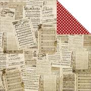 Christmas Joy Scrapbook Paper - Christmas Music