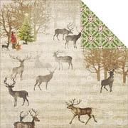 Christmas Joy Scrapbook Paper - Reindeer