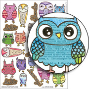 Kira's Owls Collage Sheet