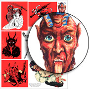 Krampus in Red Collage Sheet