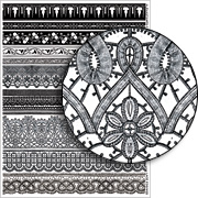 Lace Edgings Collage Sheet