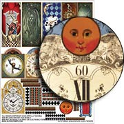 Large Grandfather Clock Facades Collage Sheet