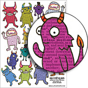 Little Monsters Collage Sheet