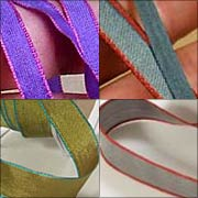 Iridescent Ribbons with Edge-Stitching