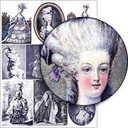 Marie Antoinette Finely Drawn Collage Sheet