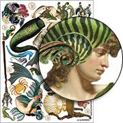Mermen Collage Sheet