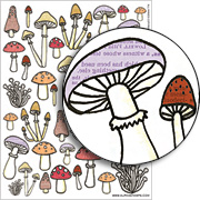 Mushrooms Collage Sheet