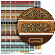 Narrow Matchbox Drawer Fronts Collage Sheet