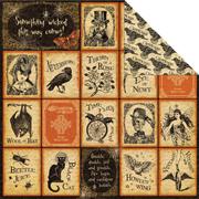 Steampunk Spells - Nevermore Scrapbook Paper