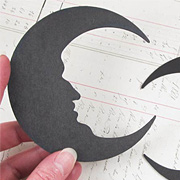 Black Chipboard Crescent Moon