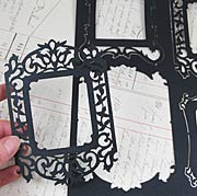 Ornate Black Die-Cut Frame Silhouettes