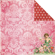 Key To My Heart - Dreamy Scrapbook Paper
