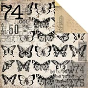 Timeless: Butterflies Scrapbook Paper