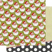 Believe Santa Baby Scrapbook Paper