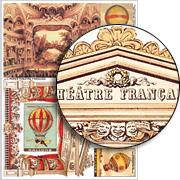 Paper Theatre Francais Collage Sheet