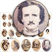 Poe Cameos Collage Sheet