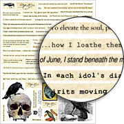 Poe's Words Collage Sheet